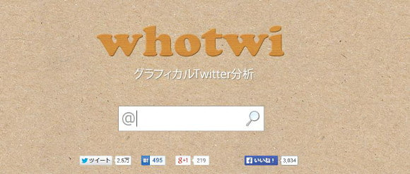whotwi TOP画面
