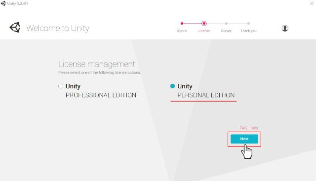 Unity PERSONAL EDITION