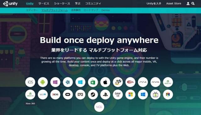 Unity マルチプラットフォーム対応
