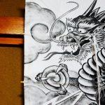 「アナログ」龍を描いてみた!龍・竜・ドラゴン違い/龍の特徴