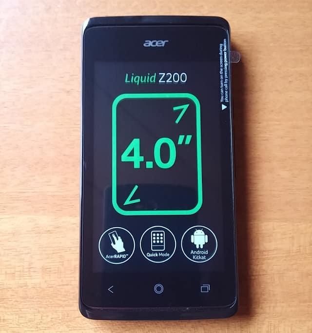 acer Liquid Z200 本体
