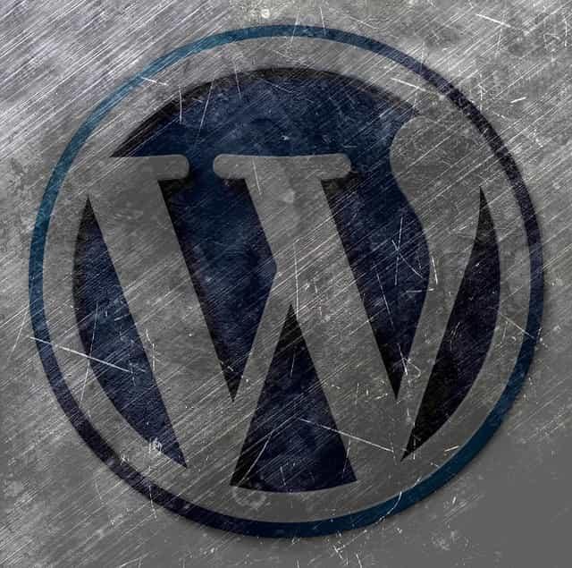 WordPressのロゴ 使い古しデザイン