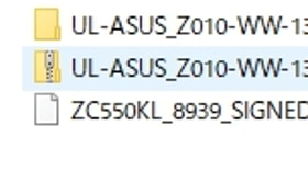 ZenFone MaxのファームウェアをSDカード直下に入れる
