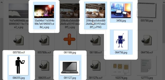 「Ctrl(押したまま)」+「左クリック」 画像選択方法