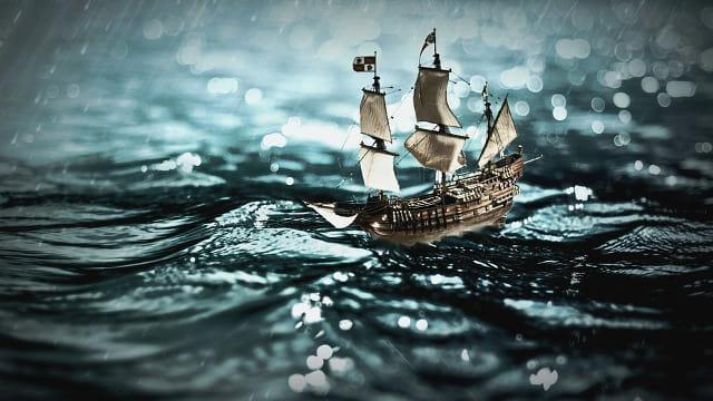 航海中 船