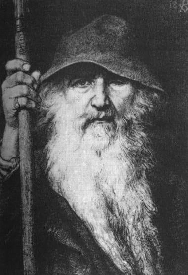 北欧神話の主神オーディンの絵画